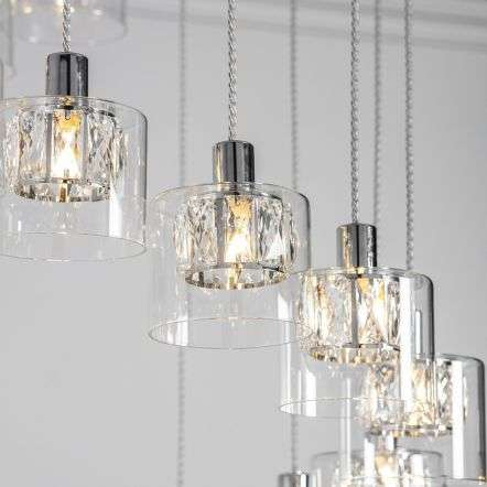 Verina 12 Light Pendant in Chrome with Clear Glass
