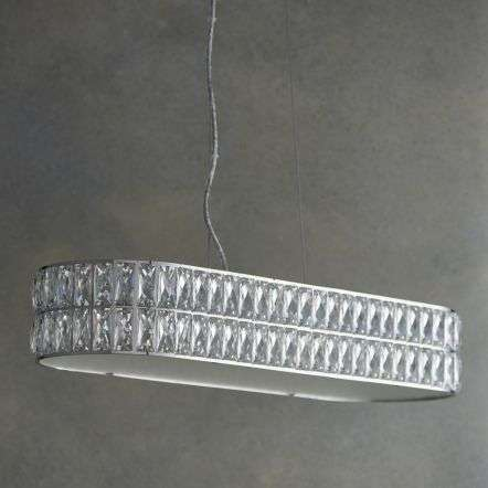 Verina 5 Light Crystal Bar Pendant in Chrome Warm White