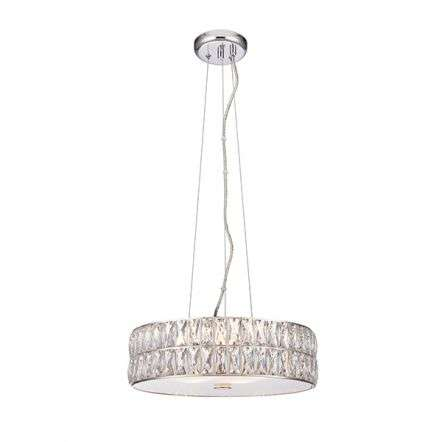 Verina 5 Light Crystal Pendant in Chrome Warm White
