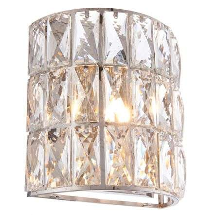 Verina Chrome & Crystal Wall Light