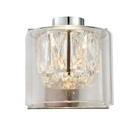 Verina Chrome Plate with Clear Glass Wall Light