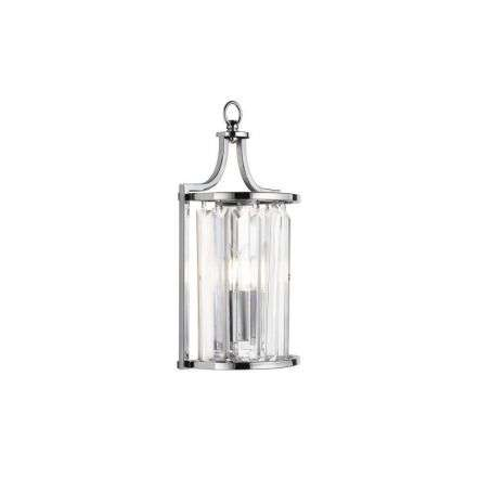 Victoria 1lt Wall Light, Chrome With Crystal Glass