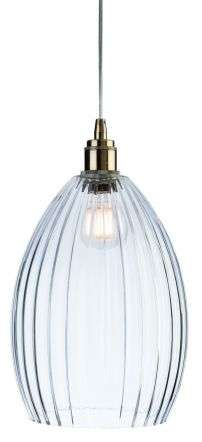 Victory Single Light Pendant in Antique Brass