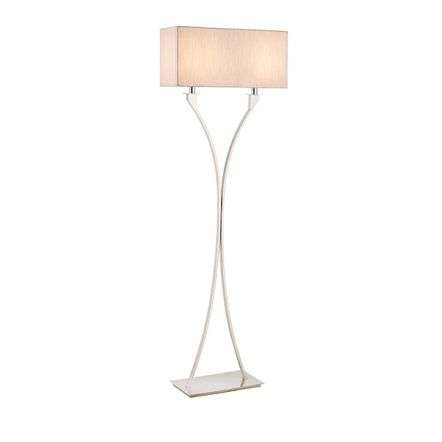 Vienna 2 Light Floor Lamp in Nickel
