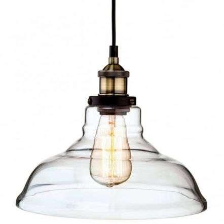 Vintage Antique Glass Dome Fisherman Hanging Ceiling Light