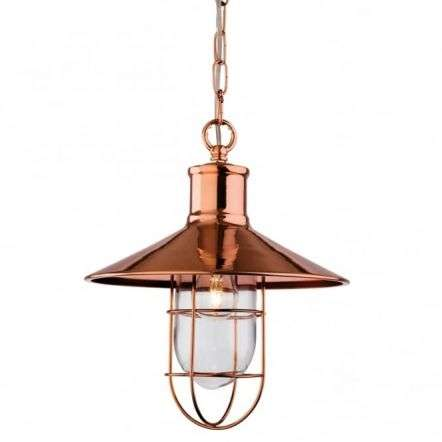 Vintage, Tradtional Fisherman Copper Ceiling Pendant Light