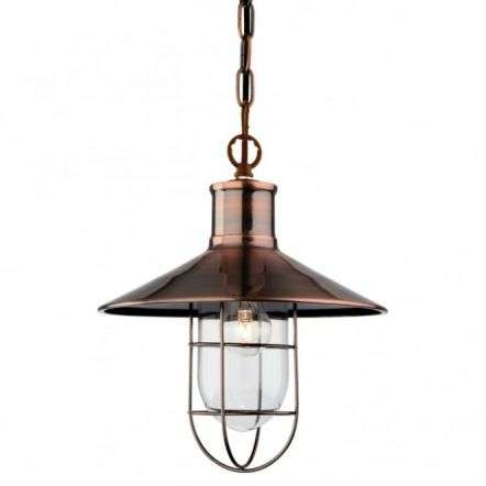 Vintage,Tradtional Fisherman Antique Copper Ceiling Pendant