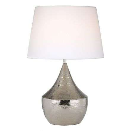 Vorana Table Lamp Nickle Base Only
