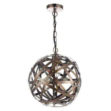 Voyage 1 Light Pendant Antique Copper Ball