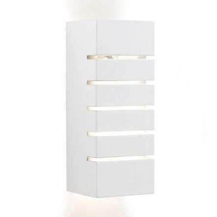 Wall Light White Rectangle Plaster
