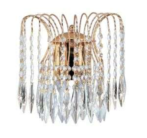 Waterfall 2-Light Crystal Wall Bracket