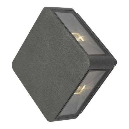 Weiss 4 Light Wall Light Square Anthracite IP65 LED