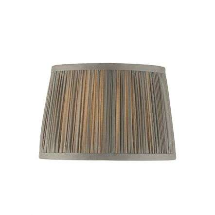 Wentworth Charcoal Grey Pleated Shade 205mm
