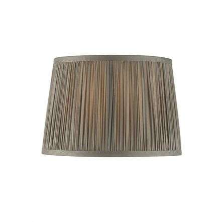 Wentworth Charcoal Grey Pleated Shade 255mm