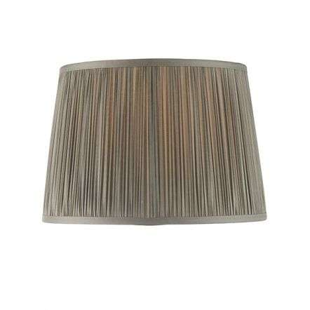 Wentworth Charcoal Grey Pleated Shade 305mm