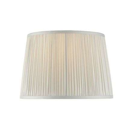 Wentworth Silver Satin Pleated Shade 305mm