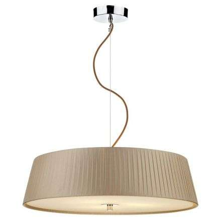 Wheel 3 Light Slimline 570MM Pendant Taupe