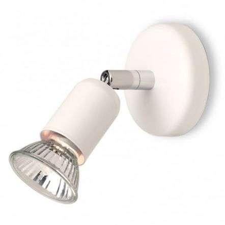White Brass Adjustable Ceiling Spotlight