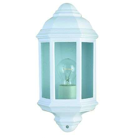 White Ip44Cast Aluminium Outdoor Flush Light With Clear Glass