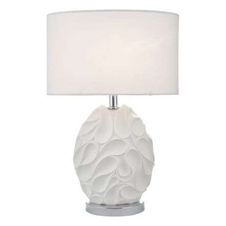 Zachary Table Lamp White Oval Cw Shd