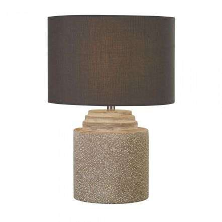 Zara Grey Cement Table Lamp With Grey Shade