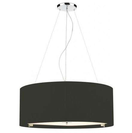 Zaragoza 6 Light Pendant Black 90CM