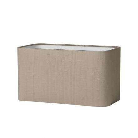 ZOFFANY 30CM (H=15CM) ROUNDED RECTANGLE SILK SHADE TAUPE