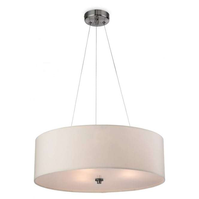 Modern Cream Drum Shade Suspended Ceiling Light Fitting