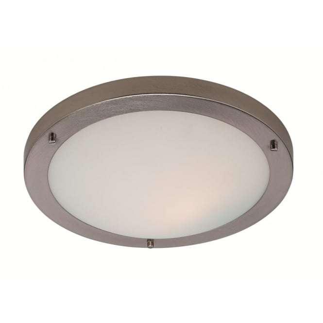 Firstlight 8611bs modern minimalist brushed steel flush for Modern minimalist lighting