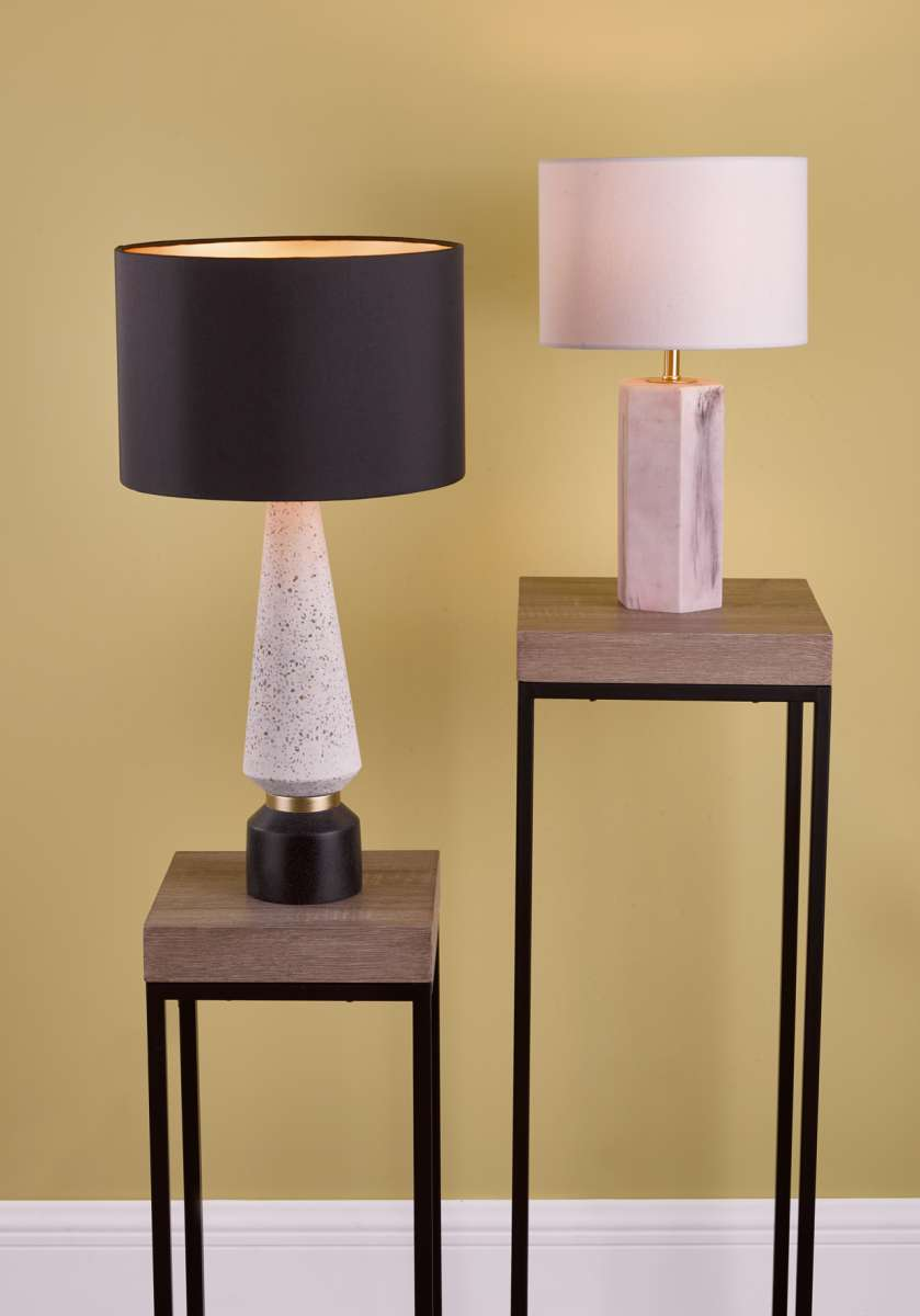 DAR ONO4255 Onora Table Lamp White