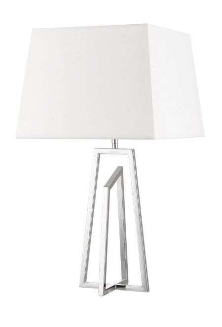 Plaza Polished Chrome Table Lamp C W, Table Lamp Square Shade