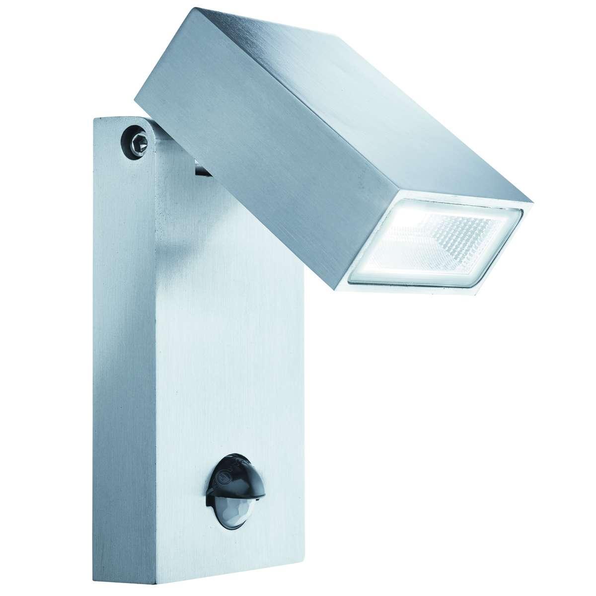 stainlesssteel ip44 led outdoor wall light motion sensor. Black Bedroom Furniture Sets. Home Design Ideas