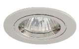 Chrome finish die-cast aluminium recessed fitting