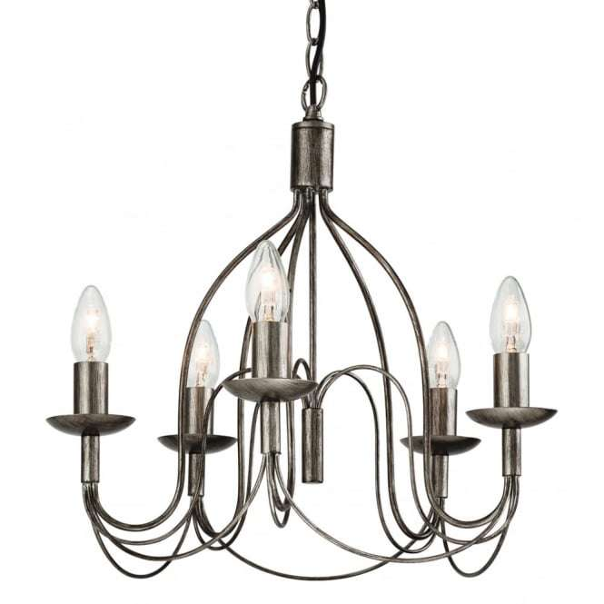 Traditional Antique Silver Stick Ceiling Pendant Light fitting