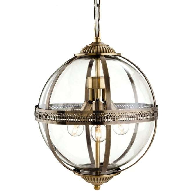Firstlight 3413ab firstlight mayfair bronze clear glass globe details home pendant lights globe pendant light traditional bronze clear glass mozeypictures Choice Image