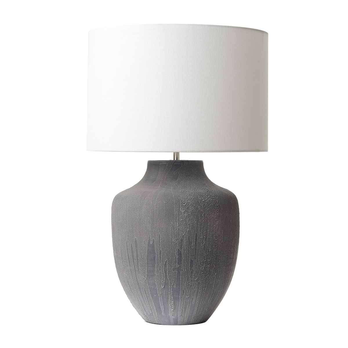 Dar Lighting Udi4239 Udine Table Lamp Grey Base Only Jr Lighting